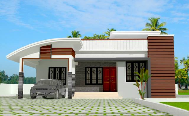 980 SQ FT LOVELY HOME DESIGN